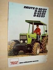 Prospectus Tracteur DEUTZ D 4007 brochure tractor Traktor Trattore Prospekt