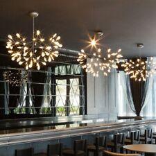 Modern Cherry Chandeliers Lights Tree Leaf LED Pendant Lamps Gold Black Fixtures