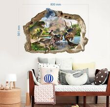 Dinosaurier Wandtattoo Wandaufkleber Kinderzimmer Decoration 3D DINOSAUR 56x80cm