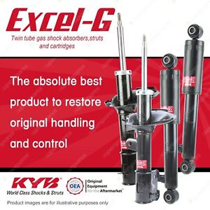 Front + Rear KYB EXCEL-G Shock Absorbers for HYUNDAI Santa Fe CM 4WD FWD Wagon