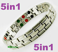 Magnetic Energy Germanium  Power Bracelet Health 5in1 Bio Armband STAINLESS
