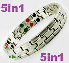 Magnetic Energy Germanium  Power Bracelet Health 5in1 Bio Armband TITANIUM