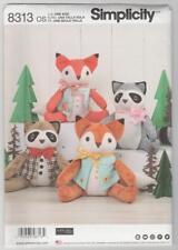Simplicity Sewing Pattern 8313 Elaine Heigl Stuffed Animals - Fox and Raccoon