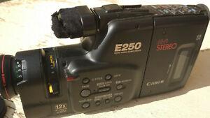 Canon E250A 8mm Camcorder Canovision plus extras