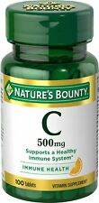 Nature's Bounty Vitamin C-500 mg Tablets Healthy Immune Health 100 Ct (3 Pack)