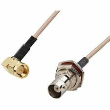 RF pigtail cable SMA male right angle to BNC female RG316 30cm