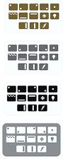 STOVE Range Cooker Oven Hob SYMBOLS replacement STICKERS labels 4 Ring 5 Ring