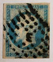 """MARCOPHILIE-FRANCE EMPIRE N° 14 (TB-1109-2) CACHET """"E"""" DE BUREAU DE PARIS"""
