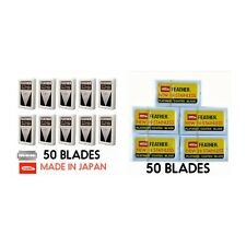 100 Feather Razor Blades Yellow/Red Pack HI-STAINLESS Double Edge Shaving Safety
