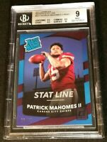 BGS 9 1/1 PATRICK MAHOMES II RC /41 *SSP RATED ROOKIE PURPLE 2017 Panini Donruss