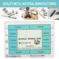 For Watch Band Clasp Buckle 1.0mm Thick 12mm-21mm Tube Friction Pins Spring Bar