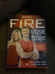 BurstFit FIRE (2012, Dr Josh Axe) 30 Day Home Fitness Program DVD Set R5