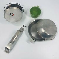 Vintage Boy Scouts Of America Camping Hiking Mess Kit REGAL Aluminum w/ cup (B)