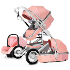 Baby Stroller 3 in 1 High Landscape Pram foldable pushchair bassinet Car Seat