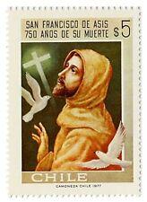 Chile 1977 #918 San Francisco de Asis 750 Años de su Muerte MNH