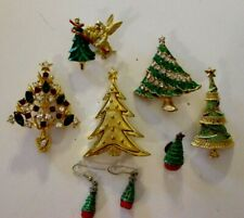Christmas Jewelry Lot-8 Piece-Some Signed-Lot#614