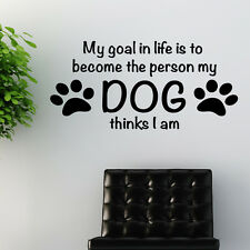 Dog Wall Quote sticker art pet grooming quote animals w172