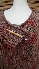 * Zuza Bart * Design Fatto a Mano in Legno Spilla/Pin Wear per Cardigan o scialle