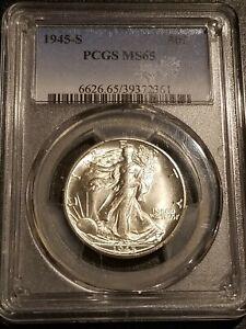 1945-S PCGS MS65 Liberty Walking Half Dollar-Gorgeous Coin!!!