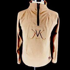 Kyra. K Mens Pullover Sweater Sz L Large Brown Tan Long Sleeve Fleece 1/2 Zip