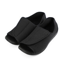 Men's Wide Adjustable Diabetic Slippers for Swollen Edema Flat Feet Open Toe