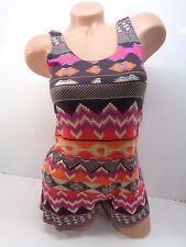 Women's Lily White Romper In Multi-Color Size XS
