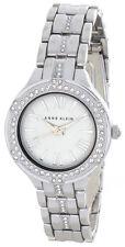 Anne Klein Womens White Dial Metal Bracelet Quartz Watch W/ Crystals AK/2593