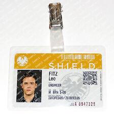Marvel Agents of S.H.I.E.L.D. Leo Fitz ID Badge Cosplay Costume Prop Halloween