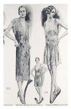 Nostalgia Postcard Trousseaux Lingerie 1929 Fashion Reproduction Card NS49