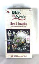 Donna Dewberry (VHS) Plaid FolkArt One-Stroke Glass & Ceramics New Sealed (2002)