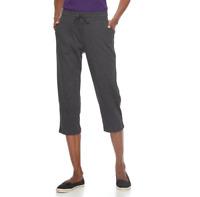Women's Petite Croft & Barrow Knit Capris, Dark Grey, Sizes: PL, PXL