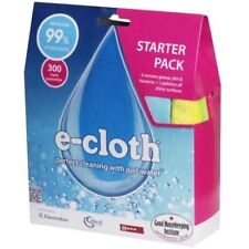 e-Cloth Starter Pack 4 x Microfibre Cleaning Remove Grease & 1 x Polishing Cloth