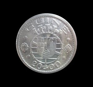 PORTUGUESE GUINEA BISSAU 20 ESCUDOS 1952 SILVER KM 11 #7942#
