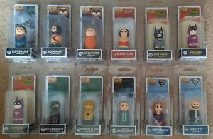 """PIN MATES DC 2"""" ASSORTED WOODEN SUPERHERO FIGURES. INDIVIDUALLY PRICED (AGE 14+)"""