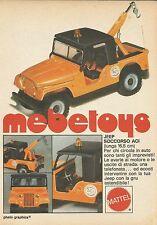X9235 Jeep Soccorso ACI Mebetoys - Pubblicità 1977 - Advertising