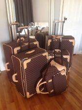 Ralph Lauren Brown/Tan Monogram 5 Piece Luggage Set