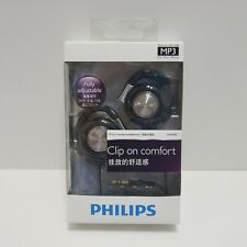 Philips SHS4700 Ear Clip Stereo Headphones Earphones Deep Bass Discontinued