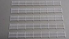 Lot 5 barrières de clôture 1/87(HO) décor train diorama compatible Jouef Faller