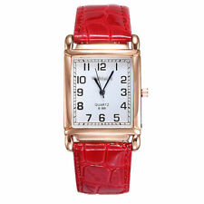 Ladies Quality Fashion Weein Rose Gold White Dial Quartz Red Band Wrist Watch.
