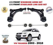 Per VW Touareg 7L ANTERIORE 2x FORCELLA armi 2x STABILIZZATORE Bar Link kit di sospensione