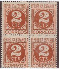 Spain,Edifil#731ta,2cts,Block of 4,MNG