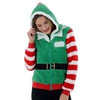 Ladies Womens Novelty Funny Christmas Elf In Training Fleece Hoody Jumper Zip