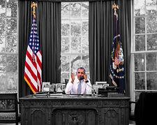 President Barack Obama Sitting Desk Oval Office 8 x 10 Photo Photograph Picture