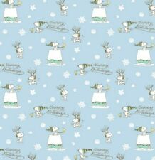 Peanuts Happy Holidays Blue Cotton Fabric by Springs Creative Bty