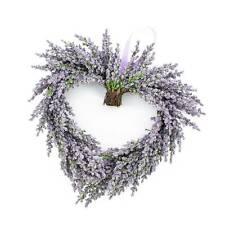"Decorative Lavender heart, violet, Ø12""/30 cm -Decorative wreath/fake lavender"