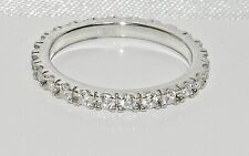Sterling Silver 925 Sparkling Simulated Diamond Full Eternity Ring - All Sizes