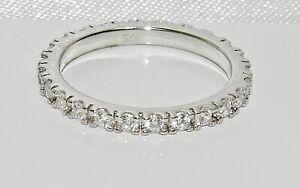 Sterling Silver Diamond Full Eternity Ring - All Sizes