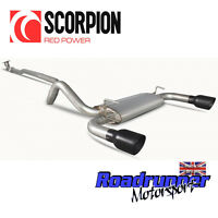 Scorpion Fiat 500 595 695 Abarth Cat Back Exhaust Non Res Black Tails SFT005C