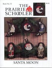 The Prairie Schooler SANTA MOON Cross Stitch Pattern Chart Book No. 53 EUC