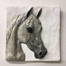 Arabian Horse Pony Ceramic 3D Tile show horse Bas-relief Sondra Alexander Art